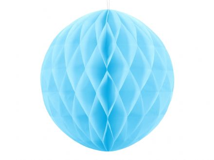 Sky Blue Honeycomb Ball Decoration - 30cm